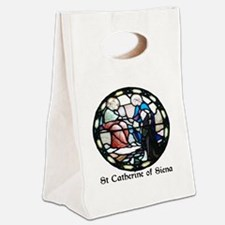 St Catherine of Siena Canvas Lunch Tote