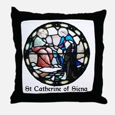 St Catherine of Siena Throw Pillow