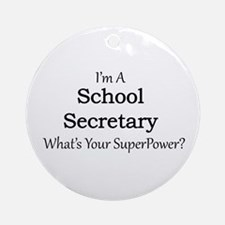 School Secretary Round Ornament