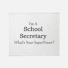 School Secretary Throw Blanket