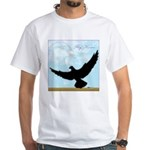 Pigeon Fly Home White T-Shirt