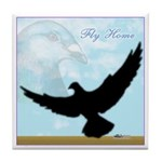 Pigeon Fly Home Tile Coaster