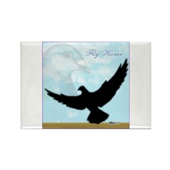Pigeon Fly Home Rectangle Magnet (10 pack)
