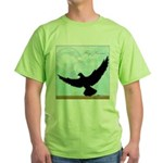 Pigeon Fly Home Green T-Shirt