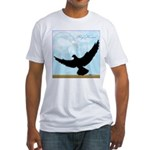 Pigeon Fly Home Fitted T-Shirt