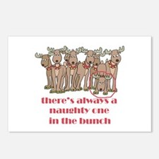 Naughty Reindeer Postcards (Package of 8)