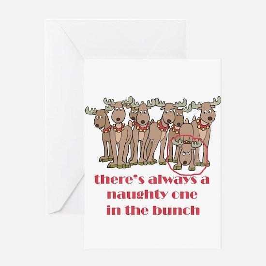 Naughty Reindeer Greeting Card
