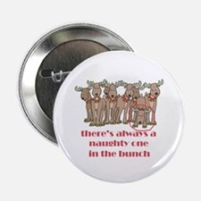 """Naughty Reindeer 2.25"""" Button (100 pack)"""