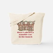 Naughty Reindeer Tote Bag