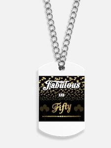 Black BG Fabulous and Fifty Dog Tags
