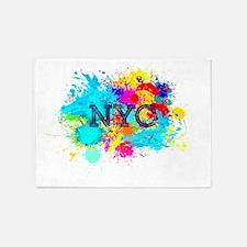NYC NEW YORK SPLASH 5'x7'Area Rug