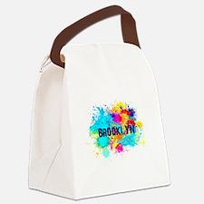 BROOKLUN NY SPLASH Canvas Lunch Bag