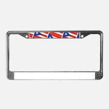 Puerto Rican Flags Banderas fo License Plate Frame