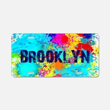 BROOKLUN NY SPLASH Aluminum License Plate