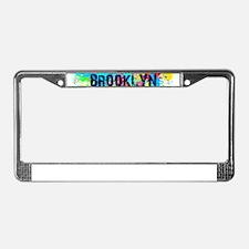 BROOKLUN NY SPLASH License Plate Frame