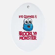 Brooklyn Monster Oval Ornament