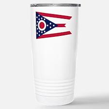 Ohio State Flag Stainless Steel Travel Mug