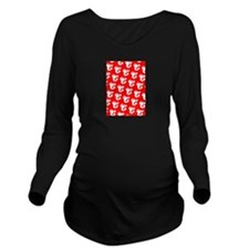 Lobster Silhouette M Long Sleeve Maternity T-Shirt