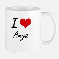 I Love Amya artistic design Mugs