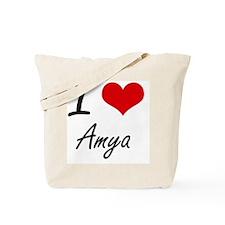 I Love Amya artistic design Tote Bag