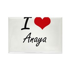 I Love Anaya artistic design Magnets