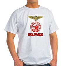 US NAVY VF-1 WOLFPACK Ash Grey T-Shirt
