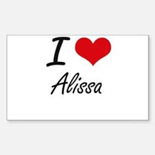 I Love Alissa artistic design Decal