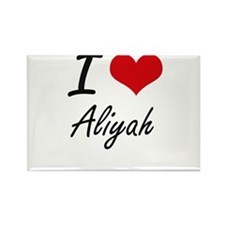 I Love Aliyah artistic design Magnets