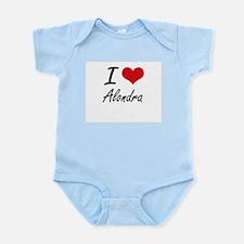 I Love Alondra artistic design Body Suit