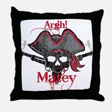 Funny Sculler Throw Pillow