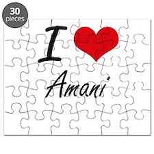 I Love Amani artistic design Puzzle