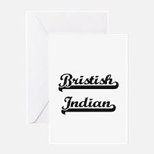 Bristish Indian Classic Retro Desig Greeting Cards