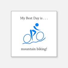 Best Day Mountain Biking Gifts Sticker