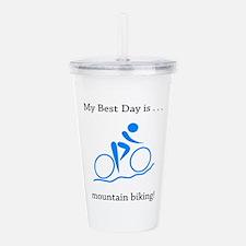 Best Day Mountain Biking Gifts Acrylic Double-wall