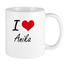 I Love Anika artistic design Mugs