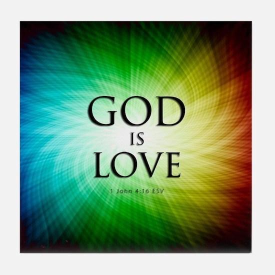Love Is God Tile Coaster