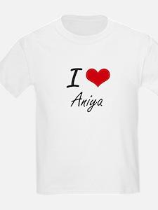 I Love Aniya artistic design T-Shirt
