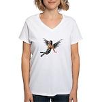 Emo.Angel Women's V-Neck T-Shirt