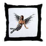 Emo.Angel Throw Pillow