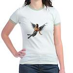 Emo.Angel Jr. Ringer T-Shirt