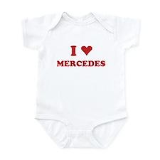 I LOVE MERCEDES Infant Bodysuit
