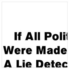If All Politicians  Were Made To Take  A Lie Detec Poster