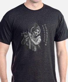 Krishna Playing His Flute T-Shirt