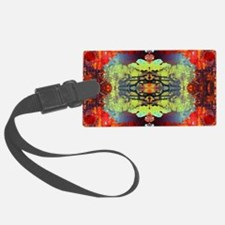exotic hipster orange batik Luggage Tag