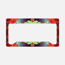 exotic hipster orange batik License Plate Holder