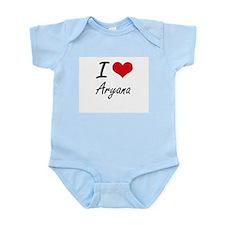 I Love Aryana artistic design Body Suit