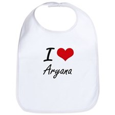 I Love Aryana artistic design Bib