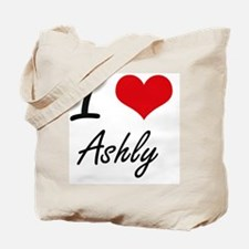 I Love Ashly artistic design Tote Bag
