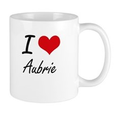 I Love Aubrie artistic design Mugs