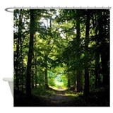 Green forest Shower Curtains